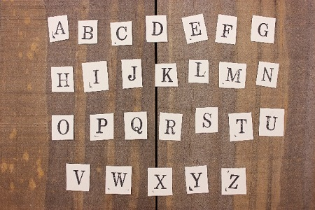 英語のアルファベット